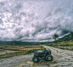 44 quad bike Rice fields. . under the rain on the mud  #vacation #awesome #fun #rain #summer #magic #malaysia #cool #clouds #sun #peace #calm #adventure #green #nature #life #happiness #holiday #amazing #sky