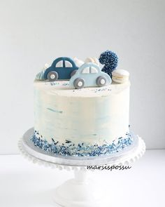 No photo description available. - # available # description # photo cake decorating recipes kuchen kindergeburtstag cakes ideas Boys First Birthday Cake, Baby Birthday Cakes, Baby Boy Cakes, Gateau Baby Shower, Baby Shower Cakes, Cupcake Cakes, Cupcakes, Bolo Cake, Birthday Cake Decorating