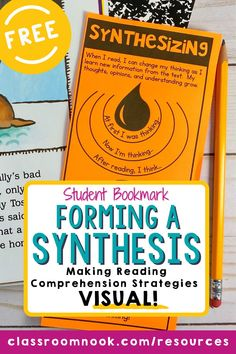 Looking for a FREE synthesizing resource to supplement your activities, anchor charts, and lessons? Grab this FREE student bookmark to help your upper elementary students synthesize a text. The printable bookmark explains the synthesizing reading strategy in kid-friendly language and is the perfect reference for students to use during independent or small-group reading time. Check it out today to increase the reading comprehension strategy of synthesizing a text! New Vocabulary Words, Vocabulary Practice, Reading Comprehension Strategies, Reading Resources, Third Grade Reading, Reading Time, Elementary Teacher, Upper Elementary, Student Bookmarks