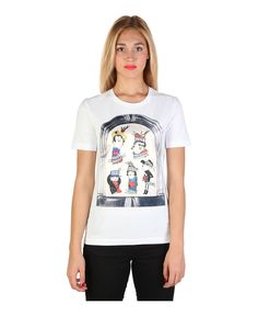 T-shirt, short sleeves roundneck - 92% cotton, 8% elastane - wash at 30° - italian size - T-shirt women White