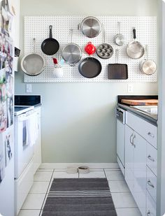 I SO want to do this but my only available wall is next to a cabinet door... I'll keep thinking how to make it work.