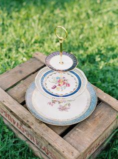 Summer romance vintage cake stand