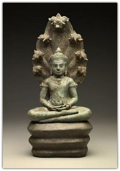 Buddha Muchalinda. Late 12th-early 13th century. Asian.   Dallas Museum of Art