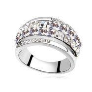 Fingerring Glaskristall Fingerring - Verlobungsring, Zirkoniaring