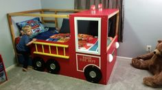 Ikea hack firetruck bed