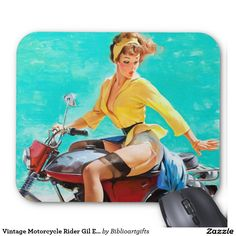 Vintage Motorcycle Rider Gil Elvgren Pinup Girl