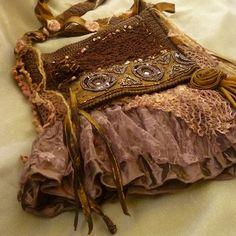 Gypsy Bag Shabby Chic Purse Boho Bag  Tattered by mystic2awesome, $28.88