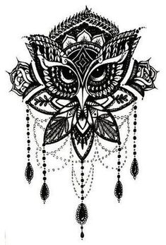 Product Information Product Type: Tattoo Sheet Set Tattoo Sheet Size: Tattoo Application & Removal Instructions Chandelier Chain Lace Lotus Watercolor Brown Tribal Owl Tattoo Birdy Bird Wrist Arm Back Shoulder Thigh Leg Calf Ankle Forearm Black Henna Tattoo Girls, Girl Tattoos, Tattoos For Guys, Family Tattoos, Tatoos, Mandala Tattoo Design, Full Sleeve Tattoos, Tattoo Sleeve Designs, Neue Tattoos