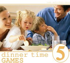 5 dinner games for families and kids to do together. - Simple games and younger children can do these too.