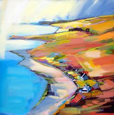 Great landscape painting by Pam Carter