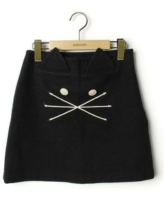 I am I (アイアムアイ)の古着「ウールスカート(スカート)」|ブラック