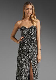 Thayer Stunner Maxi in Black/White Giraffe