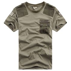US Army Patchwork Pocket Tee
