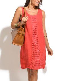 Another great find on #zulily! Crimson Chloe Linen Dress #zulilyfinds