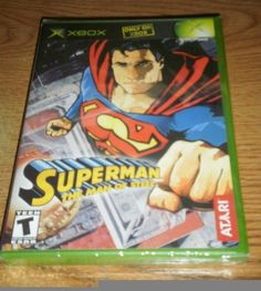 >^_^< NEW & SEALED Superman The Man of Steel video game for original XBOX  >^_^<
