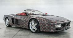 Ferrari 512 TR Got Roof Chop, Burberry Wrap From Garage Italia Customs #Ferrari #Ferrari_Testarossa