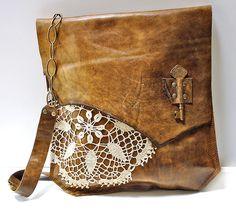 Urban Heirlooms Boho Leather Messenger Bag | XL Boho Brindle… | Flickr