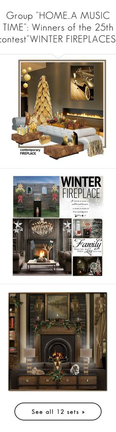 """Group ""HOME..A MUSIC TIME"": Winners of the 25th contest""WINTER FIREPLACES"""" by nicolevalents ❤ liked on Polyvore featuring interior, interiors, interior design, home, home decor, interior decorating, Threshold, Disney, John-Richard and Nearly Natural"