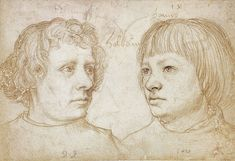 Ambrosius and Hans Holbein, by Hans Holbein the Elder - Hans Holbein el Joven - Wikipedia, la enciclopedia libre Luther, Hans Thoma, Carl Spitzweg, Hans Holbein The Younger, Silverpoint, Google Art Project, Digital Museum, Portrait Sketches, National Portrait Gallery