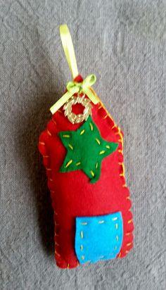 Handmade Christmas house Handmade Christmas, Christmas Ornaments, Holiday Decor, Unique, House, Home Decor, Decoration Home, Home, Room Decor