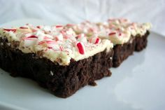 Outrageous Brownies with Crushed Candy Cane