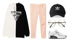 """// 210."" by peachyclouds ❤ liked on Polyvore featuring MANGO, NIKE and adidas"