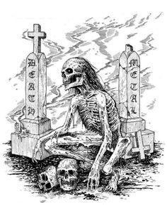 by Mark Riddick skulls and skellingtons