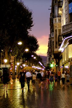 Las Ramblas, Barcelona. My favorite city in Spain...felt like being in a fairytale.