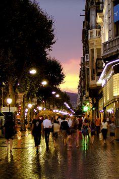 Las Ramblas, Barcelona. My favorite city in Spain...felt like being in a fairytale.
