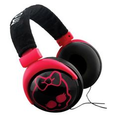 Monster High Plush Over-the-Ear Headphones - Black/Pink $20