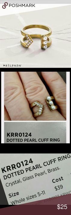 SILPADA Dotted Pearl CUFF Ring❤️NWT❤️SZ 5 Brand new never worn. Pics of an older ring are shown for clarification only. More Info on last pic. Silpada Jewelry Rings