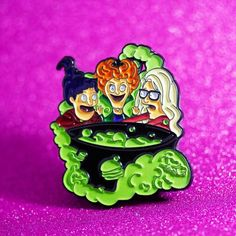 Get your Belcher siblings as the Sanderson Witches from our favorite spooky film, Hocus Pocus! yes this pin glows in the dark, plus it has three post with rubber backs for extra security! tallSoft enamelTripple Post with rubber backingGlow in the dark Jacket Pins, Bobs Burgers, Cool Pins, Pin And Patches, Hat Pins, Up Girl, Pin Badges, Lapel Pins, Pin Collection