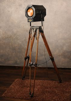 industrial floor lamp from vintage theater light by Relectronics, $575.00