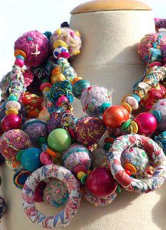 textile necklaces