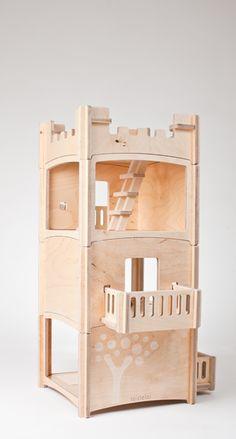 Modular doll house--no glue, no nails!  Build, take down, rebuild.