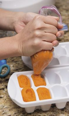 How to make and store homemade baby food.