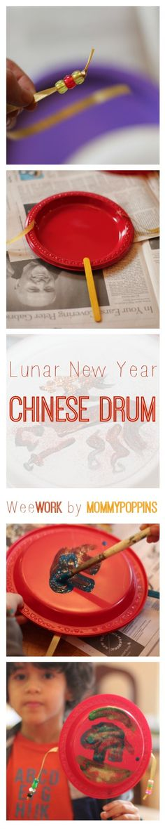 It's no wonder that Lunar New Year has become such a popular celebration with kids, even outside of cities with big Asian populations like New York and Los Angeles. There are so many fun rituals associated with the holiday. Plus, the celebrations go on for 15 days with lion dances, dumplings, and lanterns galore. One of the core rituals of Chinese New Year is to scare away the mythological beast Nian with loud noises and the color red. These little Chinese New Year drums are fun to make a...