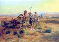 """Charles Marion Russell - The Scouts   Charles Marion Russell also known as C. M. Russell, Charlie Russell, and """"Kid"""" Russell, was an artist of the Old American West. Russell created more than 2,000 paintings of cowboys, Indians, and landscapes set in the Western United States."""