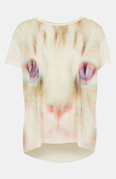 Topshop 'Rave Cat' Tee available at #Nordstrom