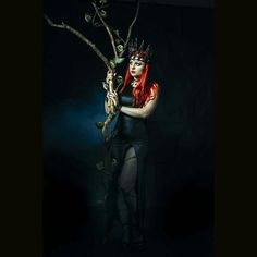 Queen photoshot  #queen #of #darkness #redhair #redhead #redlips #powerful #black #magic #magickingdom #my #style #takepart #init #professional #photoshoot #model #crown #photography #photoart #differentart #best #photographer Crown by @Tears_ofRose_