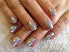 CND Shellac in Silver Chrome with holographic Rockstar xDBDx