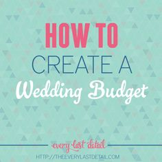Wedding budgets are THE most important aspect of a wedding. Of course yourmarriage is the most important aspect, but when we're talking about wedding planning, it's your budget that gets the place of honor. One would think that it would be easy to create a wedding budget, but it's something that there isn't any kind …