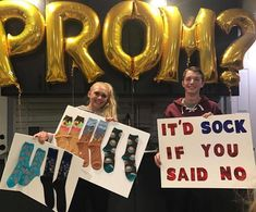 "7,083 Likes, 115 Comments - Promposal Inspo (@the.promposals) on Instagram: ""It's SOCK if you said no, PROM?"""