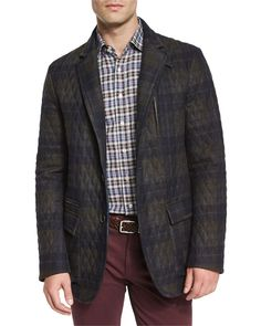 Etro Quilted Plaid Field Jacket 1S352