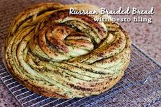 4 Points About Vintage And Standard Elizabethan Cooking Recipes! Russian-Braided-Bread-With-Pesto-Filling-Barbara-Bakes Barbara Bakes Barbara Schieving Braided Bread, Bread Bun, Yeast Bread, Bread Plait, Bread Twists, Braided Buns, Messy Buns, Bread And Pastries, Fresh Bread