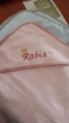 Check out this item in my Etsy shop https://www.etsy.com/listing/227092133/personalized-baby-hooded-towels-with