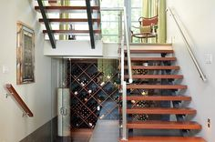 Image result for under stairs wine rack