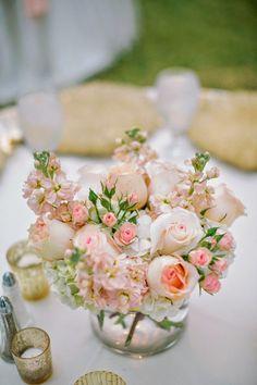 Simply beautifull #wedding #centerpiece ~ Ashley Bosnick Photography, Floral Design:  Dr. Delphinium | bellethemagazine.com