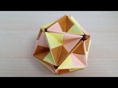 折り紙のくす玉 飾り折り 谷折り 30ユニット 折り方 Origami Kusudama Decoration folding 30units - YouTube
