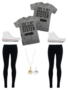 """Best friends Outfit #2"" by gracelovespigs ❤ liked on Polyvore featuring NIKE, Converse and Accessorize"